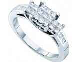 Ladies Diamond Engagement Ring 14K White Gold 0.50 cts. GD-53494