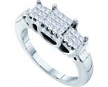 Ladies Diamond Engagement Ring 14K White Gold 0.50 cts. GD-53495