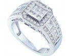 Ladies Diamond Engagement Ring 14K White Gold 0.74 cts. GD-53498