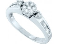 Ladies Diamond Engagement Ring 14K White Gold 0.50 cts. GD-53598