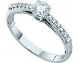 Ladies Diamond Engagement Ring 14K White Gold 0.50 cts. GD-52968