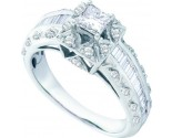 Ladies Diamond Engagement Ring 14K White Gold 0.94 cts. GD-52985