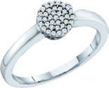 Ladies Diamond Fashion Ring 10K White Gold 0.12 cts. GD-55940