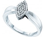 Ladies Diamond Fashion Ring 10K White Gold 0.12 cts. GD-56032
