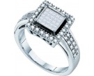 Ladies Diamond Engagement Ring 10K White Gold 0.33 cts. GD-57274