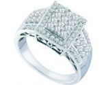 Ladies Diamond Egagement Ring 14K White Gold 0.63 cts. GD-58681