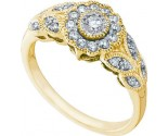 Ladies Diamond Flower Ring 10K Yellow Gold 0.34 cts. GD-58714