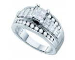 Diamond Engagement Ring 14K White Gold 1.10 cts. GD-59314