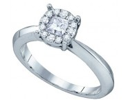 Ladies Diamond Engagement Ring 14K White Gold 0.50 cts. GD-63175 [GD-63175]