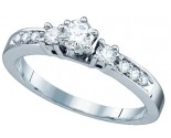 Ladies Diamond Engagement Ring 14K White Gold 0.40 cts. GD-65564