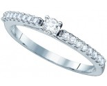 Ladies Diamond Engagement Ring 14K White Gold 0.24 cts. GD-65726