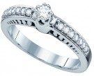 Ladies Diamond Engagement Ring 14K White Gold 0.28 cts. GD-65736