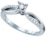 Ladies Diamond Engagement Ring 14K White Gold 0.25 cts. GD-65739