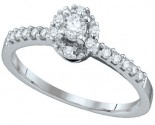 Ladies Diamond Engagement Ring 14K White Gold 0.27 cts. GD-66885