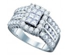 Ladies Diamond Engagement Ring 14K White Gold 2.00 ct. GD-67219