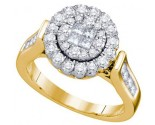 Ladies Diamond Engagement Ring 14K Yellow Gold 1.01 cts. GD-67275