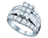 Ladies Diamond Engagement Ring 14K White Gold 1.00 ct. GD-67282
