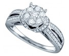 Ladies Diamond Engagement Ring 14K White Gold 0.75 cts. GD-67307