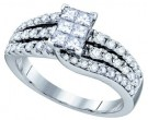 Ladies Diamond Engagement Ring 14K White Gold 1.26 cts. GD-67330