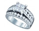 Ladies Diamond Engagement Ring 14K White Gold 1.75 cts. GD-69765