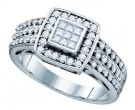 Ladies Diamond Engagement Ring 14K White Gold 0.51 cts. GD-67346