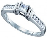 Ladies Diamond Engagement Ring 14K White Gold 0.38 cts. GD-67366