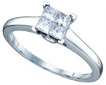 Ladies Diamond Engagement Ring 14K White Gold 0.50 cts. GD-67381
