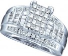 Ladies Diamond Invisible Ring 10K White Gold 1.00 ct. GD-67772