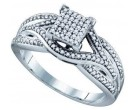 Ladies Diamond Engagement Ring 14K White Gold 0.33 cts. GD-68505