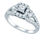Diamond Engagement Ring 14K White Gold 1.25 cts. GD-68709