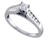 Diamond Engagement Ring 14K White Gold 0.50 cts. GD-68714