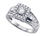 Diamond Engagement Ring 14K White Gold 1.04 cts. GD-68721
