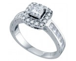 Diamond Engagement Ring 14K White Gold 1.09 cts. GD-68725