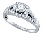 Diamond Engagement Ring 14K White Gold 1.00 ct. GD-69007