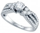 Diamond Engagement Ring 14K White Gold 1.00 ct. GD-69118