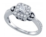 Diamond Engagement Ring 14K White Gold 0.33 cts. GD-69169