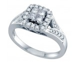 Ladies Diamond Engagement Ring 14K White Gold 0.50 cts. GD-69180