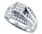 Ladies Diamond Engagement Ring 14K White Gold 0.50 cts. GD-69179