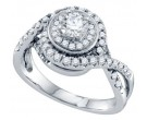 Diamond Engagement Ring 14K White Gold 1.00 ct. GD-69206