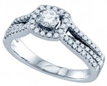 Diamond Engagement Ring 14K White Gold 0.76 cts. GD-69766