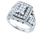 Ladies Diamond Engagement Ring 14K White Gold 1.00 ct. GD-69783