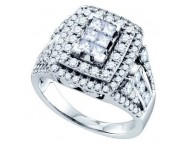 Ladies Diamond Engagement Ring 14K White Gold 1.00 ct. GD-69783 [GD-69783]