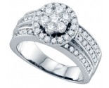 Ladies Diamond Engagement Ring 14K White Gold 1.26 cts. GD-69786