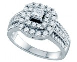 Diamond Engagement Ring 14K White Gold 1.00 ct. GD-69787