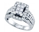 Ladies Diamond Engagement Ring 14K White Gold 1.50 cts. GD-69820