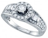 Diamond Engagement Ring 14K White Gold 1.00 ct. GD-70211