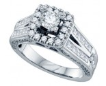 Diamond Engagement Ring 14K White Gold 1.50 cts. GD-70218