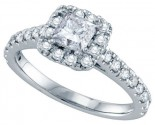 Diamond Engagement Ring 14K White Gold 1.00 ct. GD-70220