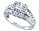 Diamond Engagement Ring 14K White Gold 1.00 ct. GD-70222