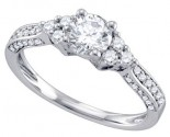 Diamond Engagement Ring 14K White Gold 1.15 cts. GD-70299